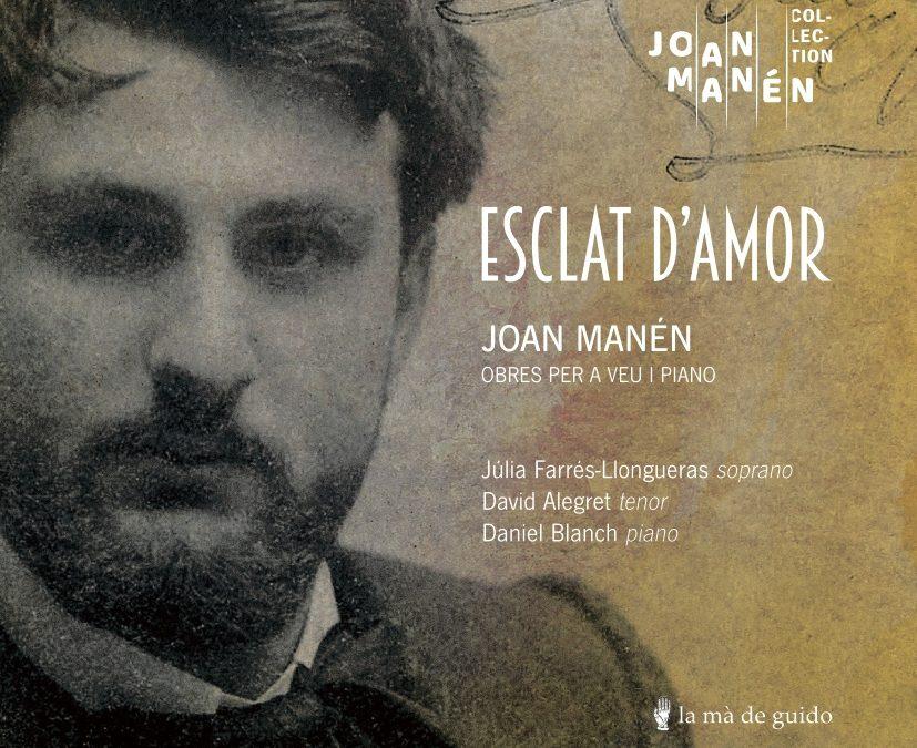 """""""Esclat d'amor"""", la integral de les cançons de Joan Manén en disc"""